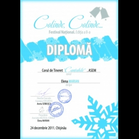 View the album Awards and diplomas in the Festivals